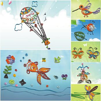 幼儿园儿童手工纸艺制作衍纸套装diy创意衍纸画材料