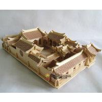 益智木质DIY仿真立体成人拼图 智力手工拼装模型玩具 北京四合院
