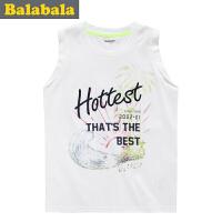 巴拉巴拉balabala童装男童字母印花背心中大童儿童夏装新款