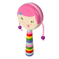儿童玩具拨浪鼓 聚酯鼓皮木制手摇铃宝宝早教益智婴儿玩具 0-1岁 AF25355