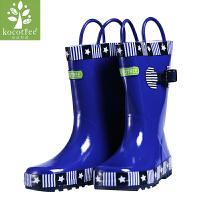 kocotree儿童雨鞋男童女童雨靴防滑可爱小孩水鞋橡胶学生宝宝雨鞋