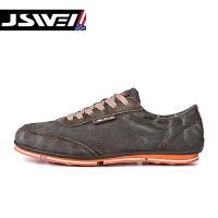 金帅威 男新款韩版纯色牛仔布水洗做旧帆布鞋男休闲运动鞋单鞋