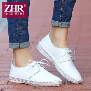 ZHR2017春季新款休闲女鞋平底单鞋子女韩版真皮小白鞋平跟小皮鞋女潮R76