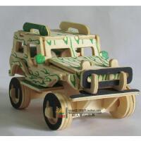 汽车总动员2仿真组装汽车模型摆件 手工diy拼装越野小吉普车玩具