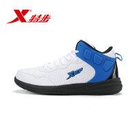特步专业男子篮球鞋新品耐磨防滑缓震男子高帮运动鞋