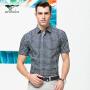 七匹狼短袖衬衫 夏季新品 男士时尚格纹商务衬衫 5036606