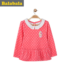 【6.26巴拉巴拉超级品牌日】巴拉巴拉童装儿童女童长袖T恤小童宝宝上衣春装T恤女