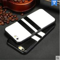 iPhone6 plus手机壳 硅胶 苹果6手机套 保护套 皮质外壳条纹潮男