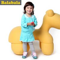巴拉巴拉balabala童装女童长袖套装幼童两件套儿童秋装新款