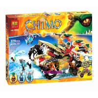 欢乐童年-博乐10294高赤马气功传奇鳄霸王的烈焰战车拼装积木男孩玩具