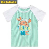 巴拉巴拉童装男童海军风短袖T恤幼童宝宝上衣儿童夏装新款潮
