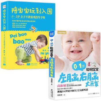 全2册 陪宝宝玩到入园+0-1岁聪明宝宝左脑右脑大开发 0-1-2-3岁亲子父母早教指导书 育儿书籍 宝宝脑力智力开发训练书 畅销书
