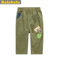 巴拉巴拉童装 男童七分裤 夏装  中童大童 裤子