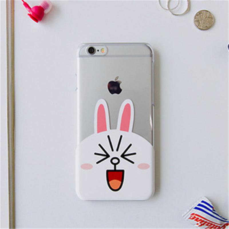壳iphone6布朗熊可妮兔手机壳6plus情侣可爱简约套韩国5s_光面可妮兔