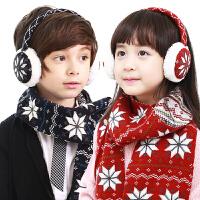 儿童耳罩冬可爱雪花防风毛绒宝宝耳套冬季男女童护耳