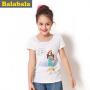 巴拉巴拉童装女童休闲短袖T恤中大童卡通印花半袖夏装新款