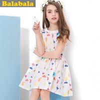 巴拉巴拉balabala童装裙子女童中大童连衣裙夏装