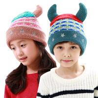 宝宝帽子秋冬男女儿童帽子冬小孩帽子2-4-8岁毛线帽潮冬女童帽子
