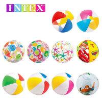 INTEX 四色沙滩球幼儿海滩球 透明充气球 宝宝儿童小孩戏水球 四色沙滩球  透明充气球