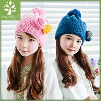 韩国KK树2015新款儿童帽子秋冬款女童套头帽小孩毛线帽冬天童帽潮