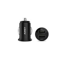 【包邮】Aukey 4.8A双USB智能车载充电器 苹果小米 三星 多口多功能汽车充 安卓充电器 充电器头