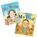 My Mum & My Dad   安东尼·布朗绘本《我妈妈》、《我爸爸》两册套装 ISBN 9781409608394