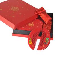 礼盒鸳鸯戏水 天然木梳子 婚庆对梳 新婚创意礼物 送闺蜜