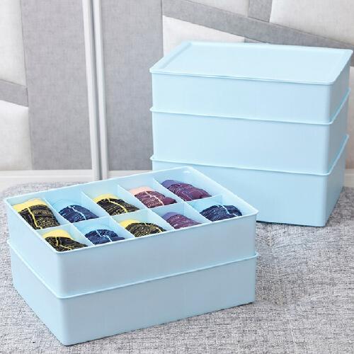 塑料家用超大内衣收纳盒三件套内衣裤子袜子收纳盒盒