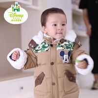 迪士尼宝宝丛林探险家前开羽绒服 冬款外套上衣