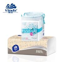 维达VIA薇尔 超薄迷你日用卫生巾190mm10片+维达150抽纸1包(满49元免邮费)