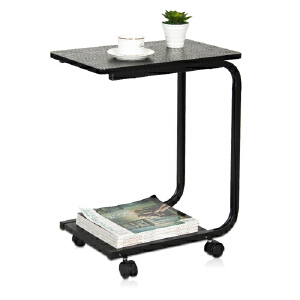 [当当自营]慧乐家 昊朗U型移动电脑桌22032-1 黑色 边桌 笔记本电脑桌  优品优质