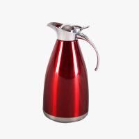 当当优品 双层不锈钢水壶 真空壶 保温壶 咖啡壶 红色 2000ML