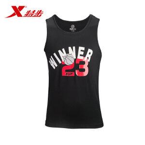 特步官方专业男子篮球运动无袖背心速干轻便透气男子运动背心