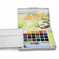 满99包邮 荷兰泰伦斯24色透明固体水彩套装 樱花24色固体写生水彩颜料