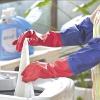 豪丰 冬天保暖长袖加绒家务手套洗碗手套橡胶手套洗衣乳胶手套 HF1875