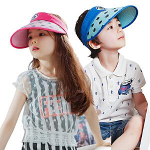 kocotree韩国儿童帽子夏男童女童空顶帽2-4-8岁防晒遮阳帽小孩太阳帽