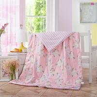 当当优品 全棉印花水洗夏凉被 空调被 午睡被 梦花心期150*200cm