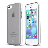 【当当自营】 iPai爱派 苹果iPhone 5C幻影系列 可拆卸PC边框 磨砂半透明TPU手机保护套/壳 黑色