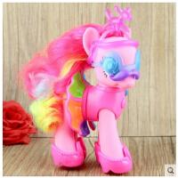 小马宝莉彩虹系列装饰 音韵公主 碧琪 可换装配发卡女孩玩具