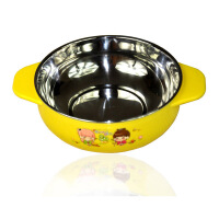 康丰 2001 贝美乐儿童不锈钢碗 婴儿碗 隔热碗保温碗 330ml 颜色随机
