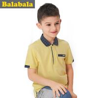 巴拉巴拉童装男童休闲POLO衫中大童波点短袖T恤儿童夏装新款