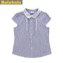 巴拉巴拉女童短袖衬衫夏装上装中童大童花边