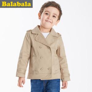 巴拉巴拉童装男童外套小童宝宝上衣春装儿童长款风衣外套