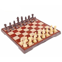 UB友邦中号仿木制象棋 西洋跳棋64格圆角磁铁折叠棋盘立体棋子,仿木色设计,折叠棋盘,棋子带磁,手感细腻,优质原料