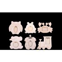 珍珠泥 雪花泥 木质YDI卡通相框胚 粘土模型木质白胚小镜子 DIY超轻粘土 雪花泥配件 儿童手绘美术涂色白模