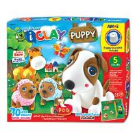 AMOS轻粘土 DIY玩具 会叫的小狗 橡皮泥儿童彩泥模具套装