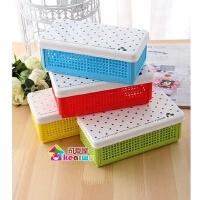 天卓文具盒 收纳盒 网格状 小工具盒TWH95040 可折叠工具盒收纳盒