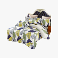 当当优品 加厚纯棉磨毛床品 双人印花床上用品床单四件套 雅客洛迪