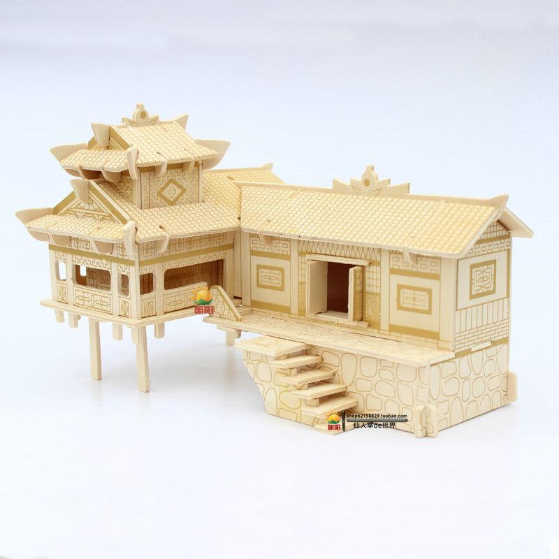 立体拼图积木我的世界玩具模型