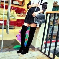 彼艾2015秋冬新款甜美时尚简约气质百搭骑士靴显高瘦腿长靴舒适过膝长靴女靴